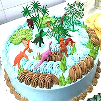 Magnificent Birthday Cake Topper 16Pcs Set Diy Cake Decor Per Jungle Personalised Birthday Cards Bromeletsinfo