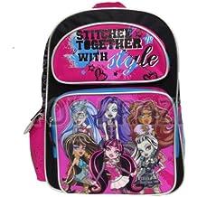 Full Size Stitched Together Monster High Backpack - Monster High Bookbag for Children