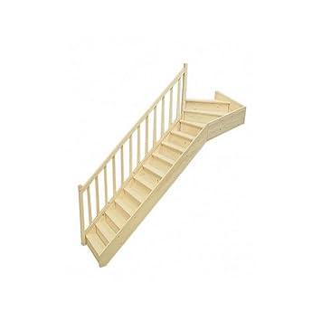 escalier quart tournant intermediaire gauche