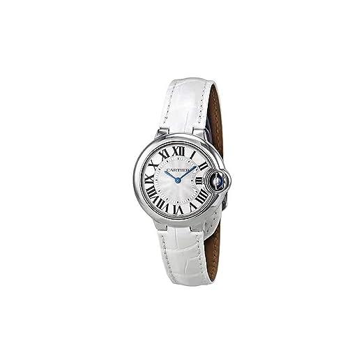 Cartier Ballon Bleu De Cartier Mujer 33 mm pulsera piel caja acero inoxidable cuarzo reloj W6920086: Amazon.es: Relojes