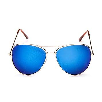 Sunb Gafas de sol para Hombres Mujeres Aviador Polarizado Metal Espejado (Negro): Amazon.es: Deportes y aire libre