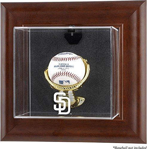 Mounted Memories San Diego Padres Brown Framed Wall Mounted Logo Baseball Case