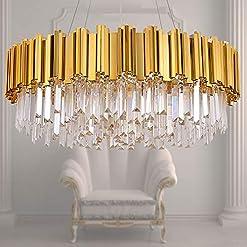 Interior Lighting MEELIGHTING Raindrop Gold Plated Modern Crystal Chandelier Lights Luxury Pendant Ceiling Light Contemporary Chandeliers… modern ceiling light fixtures