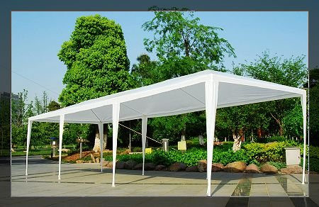 Amazon.com 10 X 30 White Party Tent Gazebo Canopy with Sidewalls Garden u0026 Outdoor & Amazon.com: 10 X 30 White Party Tent Gazebo Canopy with Sidewalls ...