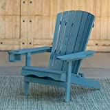 W Home WRED-031-1-BL Reclining Muskoka Chair with Ottoman, Blue Larger Image