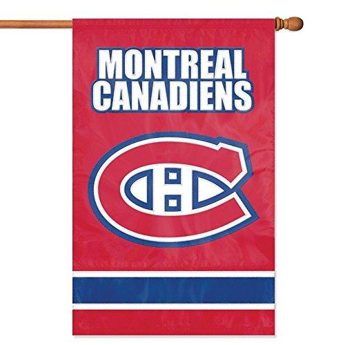 [NHL 2-Sided Appliqué Banner Flag, Montreal Canadians] (Applique College Flag Banner)