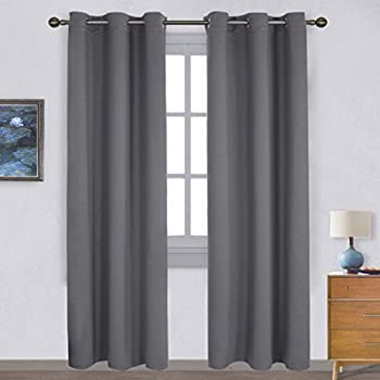Amazon.com: Blackout Window Curtain 2 Panels, Grommets Top Drapes ...
