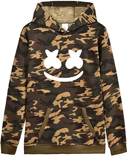 À Sweats Dj Longues 3408 Vert Hoodie Manches Flychen Marshmello Logo Homme Impression Capuche pa1W1q