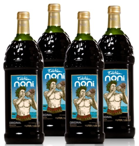 Original Noni Juice - 1 Full Case of 4 32oz Glass Bottles (Noni Juice Concentrate compare prices)