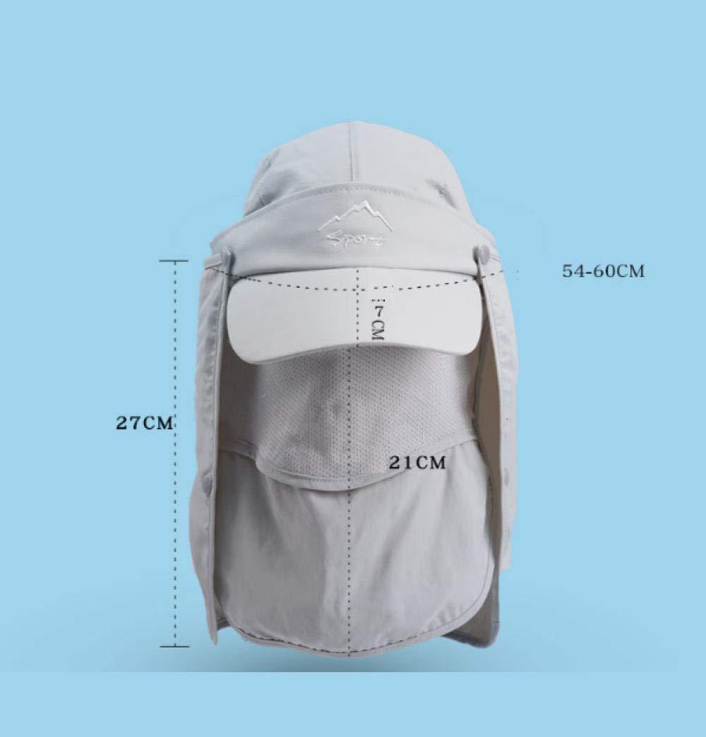 Chapeau de Soleil Unisexe Casquette Visi/ère Large Bord 360/° Anti UV Protection Visage Cou Nuque Randon/ée Campings P/êche Moto