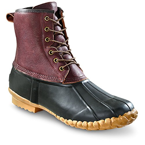 Guide Gear Mens Cedar Leather Duck Boots Dark Brown e9zh6