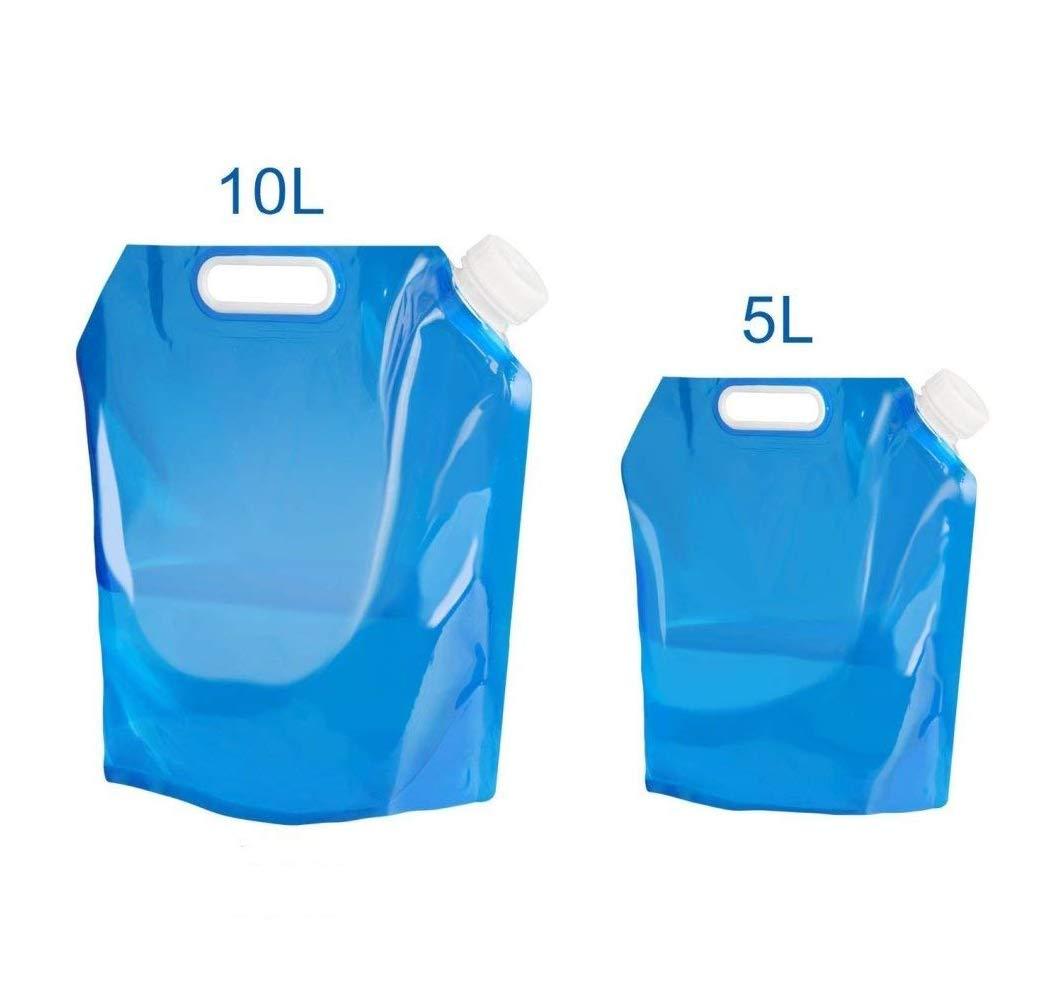 NYKKOLA - Recipiente de Agua Plegable para Camping, Senderismo, Picnic, Barbacoa, 5 litros + 10 litros:  Deportes y aire libre