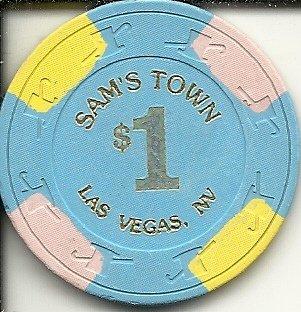 $1 sam's town hotel casino las vegas casino chip - Las Vegas Town