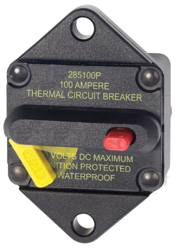 Blue Sea Systems 285-Series Panel Mount 100A Circuit Breaker (Series Panel System)