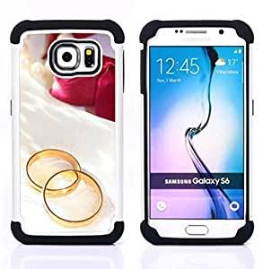 GIFT CHOICE / Defensor Cubierta de protección completa Flexible TPU Silicona + Duro PC Estuche protector Cáscara Funda Caso / Combo Case for Samsung Galaxy S6 SM-G920 // Promise of love //