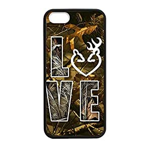 Browning Camo Deer Love for iPhone ipod touch4 Case Cover 03ipod touch4700 Rubber Sides Shockproof Protection with Laser Technology Printing Matte Result