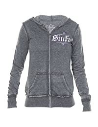 Sinful Angel Wings Hooded Burnout Jacket By Affliction