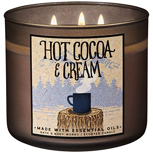 - Bath and Body Works 2018 Holiday Limited Edition 3-Wick Candle (Hot Cocoa and Cream)