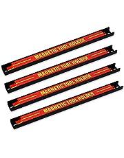 Navaris magnetische gereedschapshouder - Muur magneetstrip voor werkplaats - ca. 30 cm - Met bevestigingsmateriaal - 4 stuks