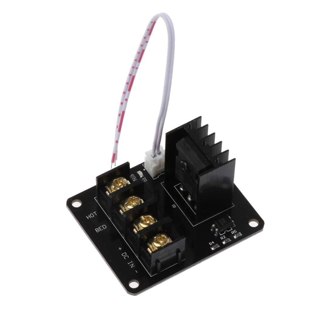 FXCO Module de Puissance de lit Chauffant pour imprimante 3D Hotbed MOSFET avec 2 conducteurs et câble d'extension A6 A2