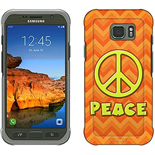 Samsung Galaxy S7 Active Case, Snap On Cover by Trek Peace on Chevron Zig Zag 2 Tone Orange Slim Case Sales