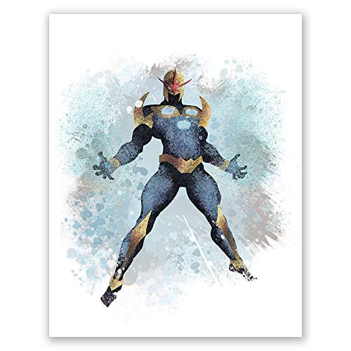 PGbureau Nova Poster - Home Art Decor - Prints for Boys - Nursery Decor - Gift for Birthday - Superhero (8x10) -