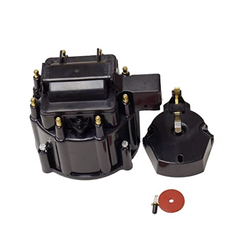 Amazon com: DEMOTOR HEI Distributor Black Cap for SBC BBC Chevy HEI