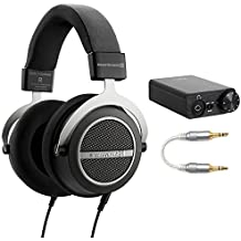 BeyerDynamic Amiron Home Tesla High-End Audiophile Stereo Headphones 250 OHM (717525) with E10K USB DAC and Headphone Amplifier & L16 Professional 3.5mm-to-3.5mm Straight Stereo Audio Aux Cable