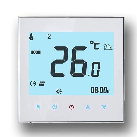 Termostato de WiFi, Arxus Control de WiFi Pantalla táctil LCD Termostato de habitación programable para
