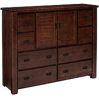 Progressive Furniture P611-24 Trestlewood Dresser, 60 x 19 x 48, Brown