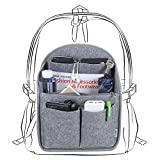 Luxja Felt Organizer Insert for Backpack, Travel Bag in Bag Purse Packing Organizers