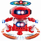 DIMY Robot Toys for Boys, Dancing Robot Toys For Kids Toddlers Gifts for 2-5 Year Old Boys Girls Gifts Age 3-6 Red DRB04