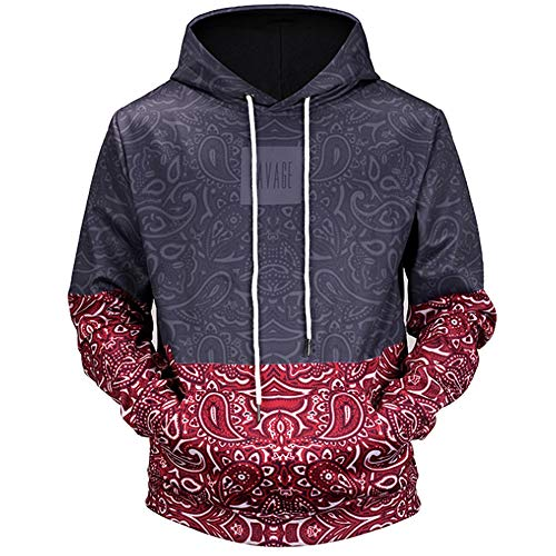 6cbe4ea16acf QMKJ Unisex Unique 3D Prints Pullover Winter Hoodie Jumpers Breathable Slim  Fit Patterned Sweatshirts with Pockets
