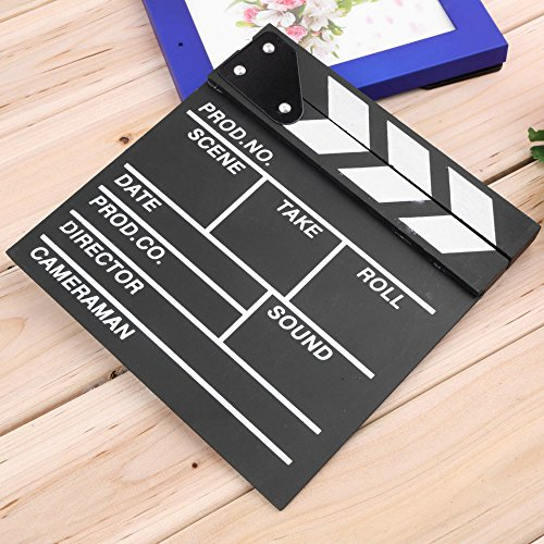 Director Video Scene Clapperboard TV Movie Clapper Board Film Slate Cut Prop