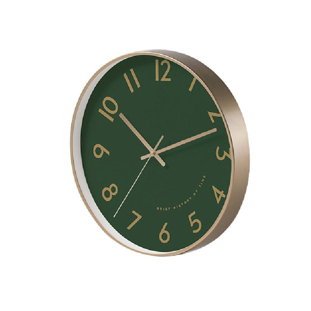 掛け時計 ノルディックスタイルの壁時計モダンシンプルなリビングルームファッションクリエイティブレストランベッドルームクォーツ時計サイレントクロック10インチ/12インチ Rollsnownow (色 : 緑, サイズ さいず : 12インチ) B07F1PG58G 12インチ|緑 緑 12インチ