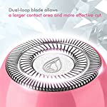 Lavany Ladies Electric Shaver, Portable Electric Razor for Facial Hair Removal, Painless Hair Remover