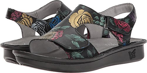 Embroidered Wedge - Alegria New Women's Viki Sandal Workwomanship 41