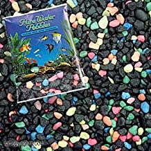 Pure Water Pebbles Aquarium Gravel Black Beauty Pebble Mix Water Substrate 5 lbs