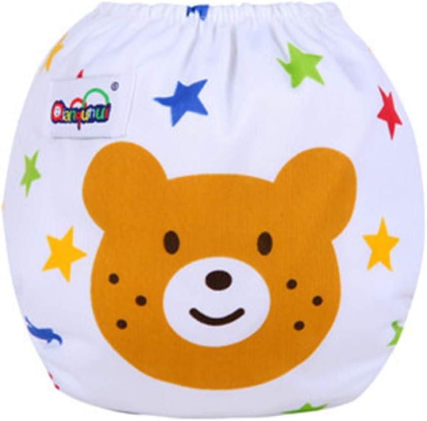 Ocamo Windelhose Baby Stoffwindel Windel Baby Anzughose Baby waschbar auslaufsichere Druckwindeln Car Grid