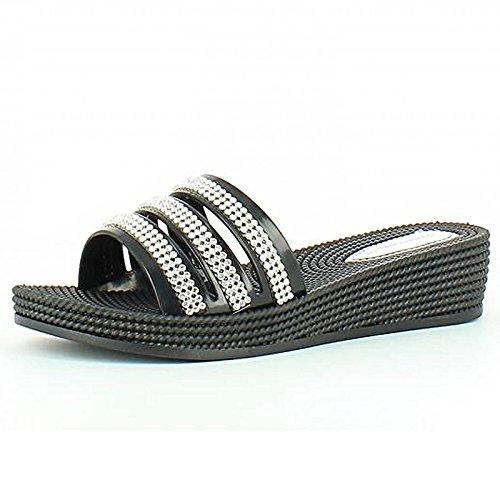 Heavenly Feet - Sandalias de vestir para mujer negro