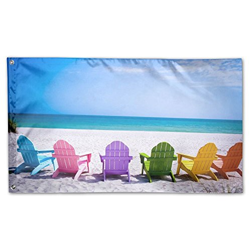 DFGTLY Decorative House Flags -Summer Beach Chairs Outdoor S