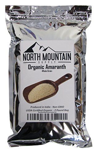 North Mountain Supply Organic Amaranth Whole Grain, Produced in India (2 Pounds) ()