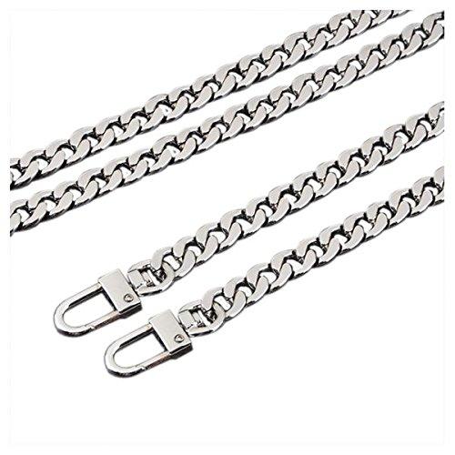 Strapping Flat SODIAL Handbag Light Golden Or Shoulder Exquisite R Silver Bag For Chain 100CM rrZ8Ex