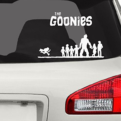The Goonies Car Decal, White, 7