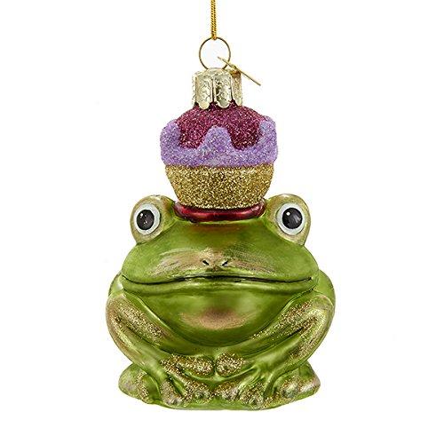 Kurt Adler Frog Prince With Crown Glass Noble Gem Christmas Ornament