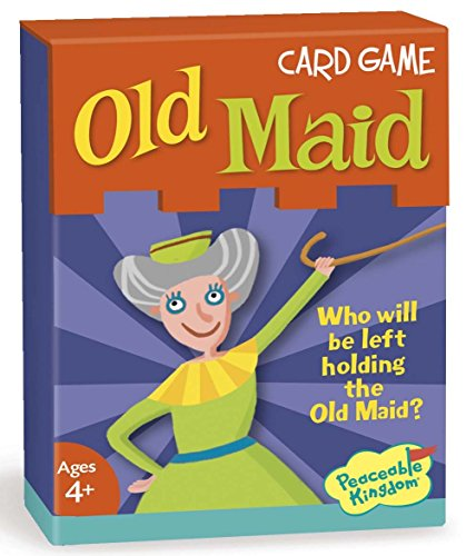 Peaceable Kingdom Old Maid Classic Card Game for Kids - 53 Cards with Gift Box