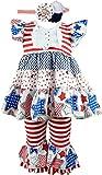 Baby Toddler Little Girls Americana Patriotic Stars Clothing Set 6