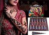 Henna Body Paints Tattoos Cones Temporary Tattoo for Girls,women Necklace,bracelets Patterns