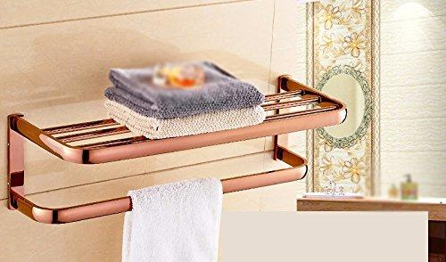 GGHYYO Towel shelf shower room kitchen Shelf Rose Holder Gold Color