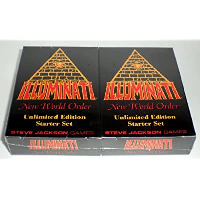 Illuminati New World Order Card Game Unlimited Edition Starter set Second Printing with colored Titles by Steve Jackson 1994-1995: NA: Toys & Games